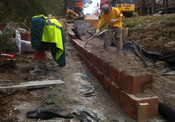 Retaining Wall Verona School